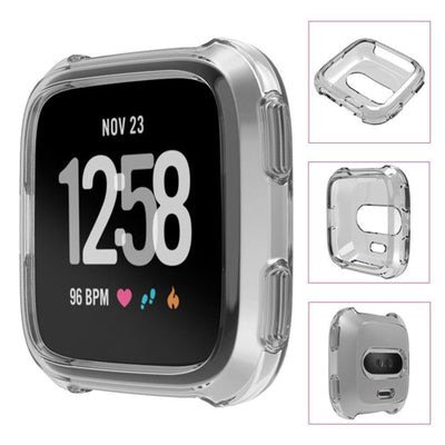 Soft Gel Silicon Protective Frame TPU Cover Case For Fitbit Versa Smart Watch