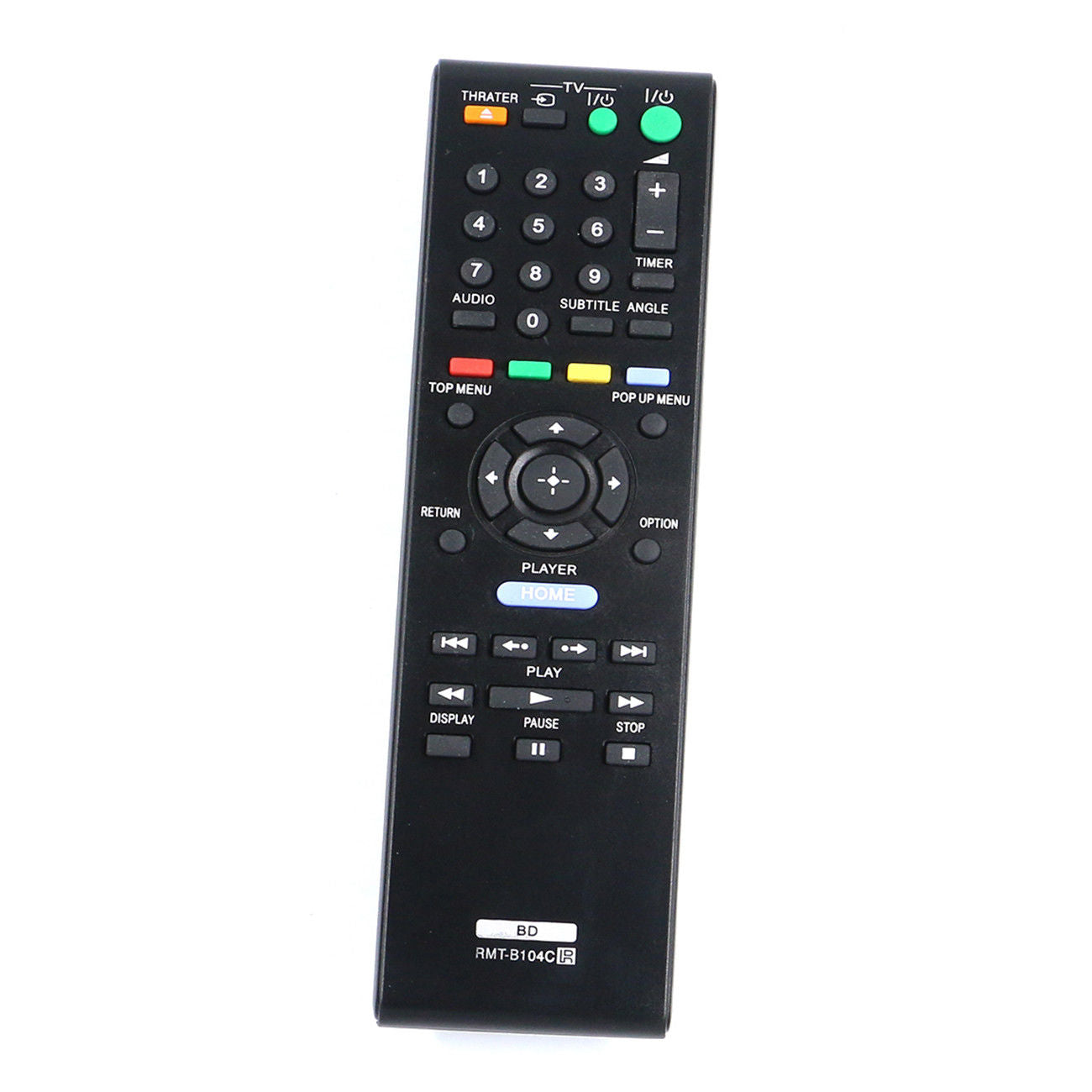 Generic Replacement Blu-ray Disc Player Bd Remote Control for Sony Rmt-b104c Rmt-b104p Bdp-s185 Bdp-s190 Bdp-s270 Bdp-s300 Bdp-s350 Bdp-s360 Bdp-s370 Bdp-s380 Bdp-s470 Bdp-s480 Bdp-s490 Bdp-s495 Bdp-s550 Bdp-s560 Bdp-s570 Bdp-s580 Bdp-s780 Bdp-s360hp Bdp-s