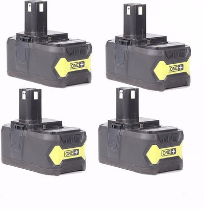 4x 5.0AH 18V Li-ion Battery for Ryobi One Plus RB18L25 RB18L50 P108 P107 P104