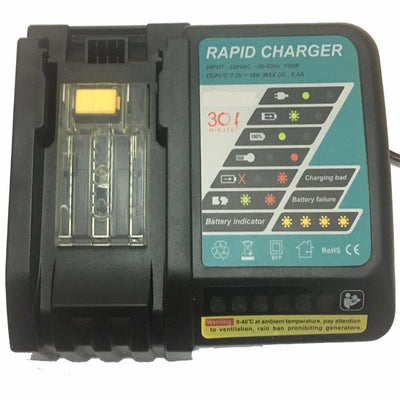 DC18RA Rapid Charger Replacement for Makita BL1860 BL1830 1815 1840 1430 Battery 14.4V-18V