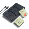 Battery (X2) & USB Charger Replacement for Sony NP-BG1 NP-FG1 NPBG1