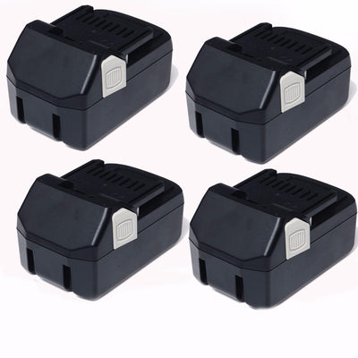 4x 18V 4.0AH Li-ion Battery for Hitachi BSL1815 1BSL1830 BSL1840 BSL1850 CJ18DSL