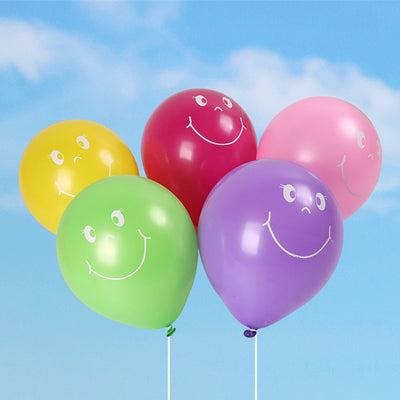 100PCS smiley face balloons pump printing Latex balloons Parties, Birthdays,