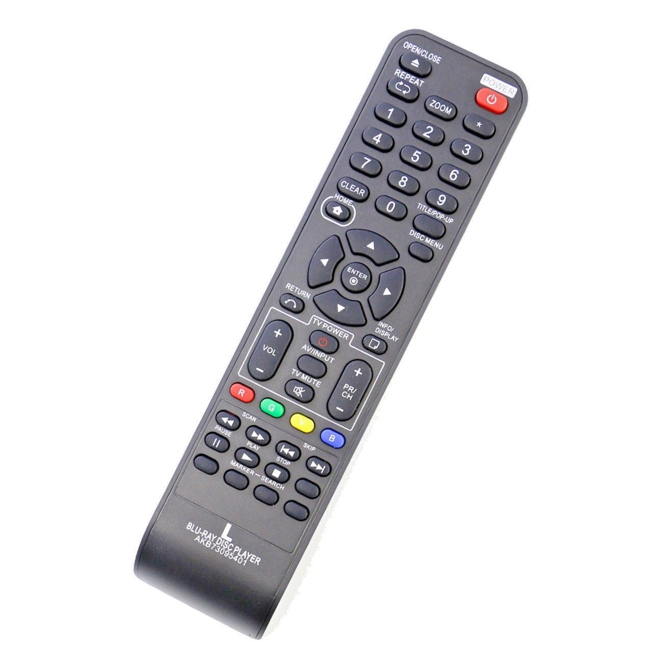 AKB73095401 Replacement Remote for LG Blu-Ray DISC Player BD550 BD611 BD620C