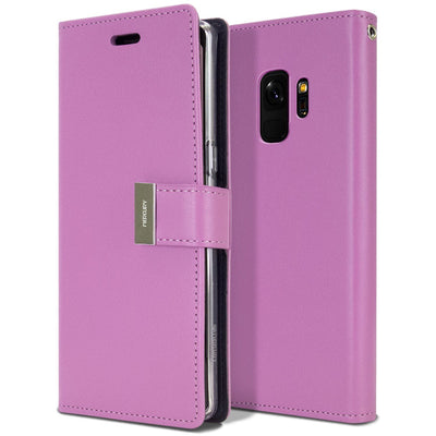 Samsung Galaxy S9 Case Wallet Leather Goospery Rich Diary Flip Cover