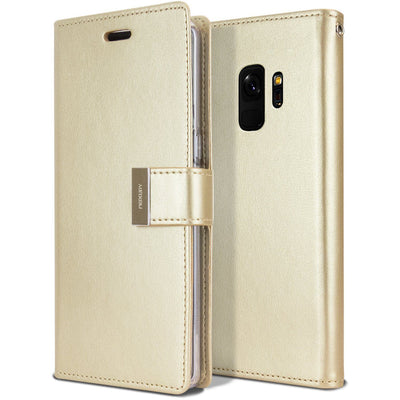 Samsung Galaxy S8 Plus Case Wallet Leather Goospery Rich Diary Flip Cover
