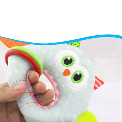 Cute Baby Activity Animal Hand Bell Creative Educational Lovely Toy Owl handbell