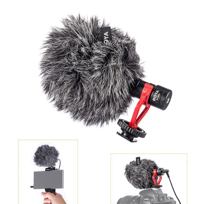Boya BY-MM1 Video Mic Microphone Compact On-Camera For iPhone Android Mac Loc