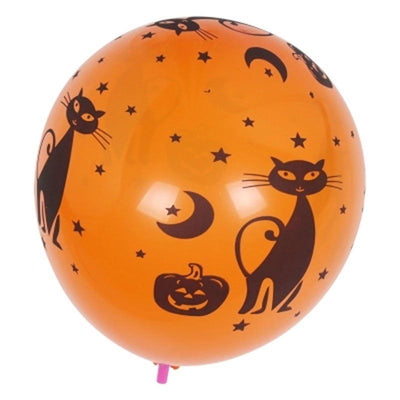 20X Latex Halloween Balloons Spooky Pumpkin Cat Ghost Skeletons Party Decoration