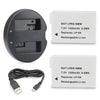 2 Pack Canon LP-E8 Digital Camera Replacement Battery and Smart LCD Display Dual USB Charger