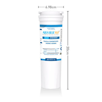 2x Fisher Paykel replacement fridge water filter 836848 Aqua Blue generic