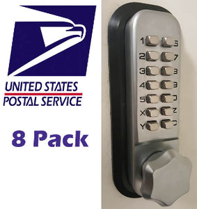 MECHANICAL KEYLESS DEADBOLT LOCK v.4 - PRIORITY MAIL (8 PACK)*