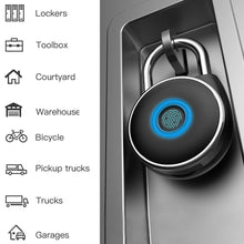 Load image into Gallery viewer, NetBolt Smart Fingerprint Padlock (Satin Black)