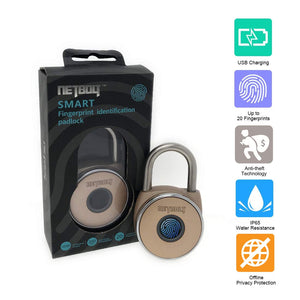 NetBolt Smart Fingerprint Padlock (Alloy Gold)