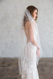 CHARLIE KNEE LENGTH VEIL - SIMPLE CUT EDGE