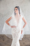 FRANCES FINGERTIP DOUBLE VEIL - WITH SCATTERED CRYSTALS