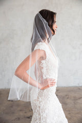 JOSEPHA BLUSHER VEIL - SIMPLE CUT EDGE