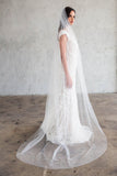 KORTNEY CHAPEL LENGTH VEIL - SIMPLE CUT EDGE