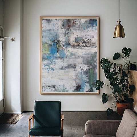Original Abstract Painting, Extra Large Abstract Landscape Painting,Large Abstract Art,Large Livingroom Wall Canvas Painting