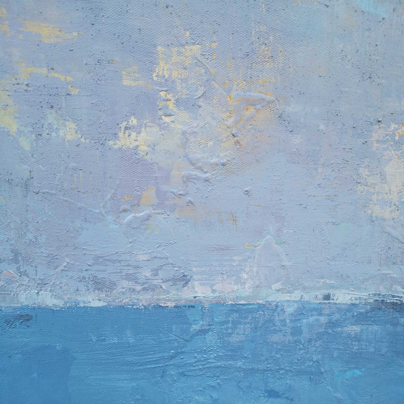 Large Blue Ocean Abstract Painting Large Acrylic Coastal Abstract Cnvas Wall Art