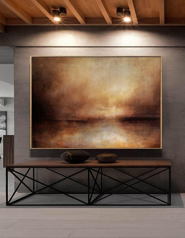 Impressionist Seascape Paintings Large Beach Canvas Wall Art Modern Beach Art