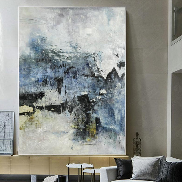 Large Vertical Abstract Painting Contemporary Abstract Art Abstract Wall Art For Living Room