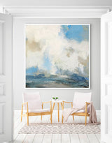Impressionist Seascapes Modern Beach Wall Art Large Abstract Beach Artwork