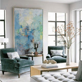 Extra Large Abstract Scenery Painting Oversize Bright Modern Canvas Art