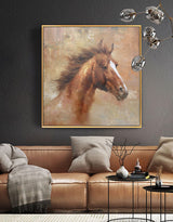 Wild Horse Painting Canvas Large Horse Wall Art Oversized Horse Art
