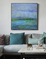 Modern Seascape Paintings Large Beach Painting On Canvas Oversized Beach Wall Art