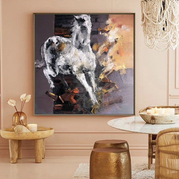 Contemporary Horse Art Abstract Horse Painting Horse Art For Sale