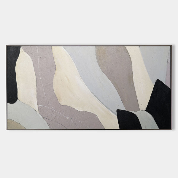 Large Abstract Canvas Abstract Geometric Minimalist Painting Huge Minimal Art