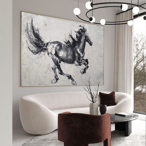 [PRODRunning Horses Canvas Wall Art Large Wild Horse Canvas Art Black Horse PaintingUCT_TITLE]-[SHOP_NAME]