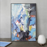 Textured Bright Abstract Painting Big Contemporary Abstract Art For Sale