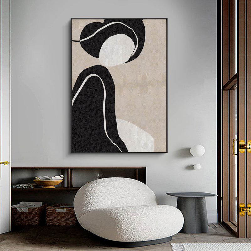 Minimalist Portrait Minimal Art Painting Wall Art Paintings For Living Room