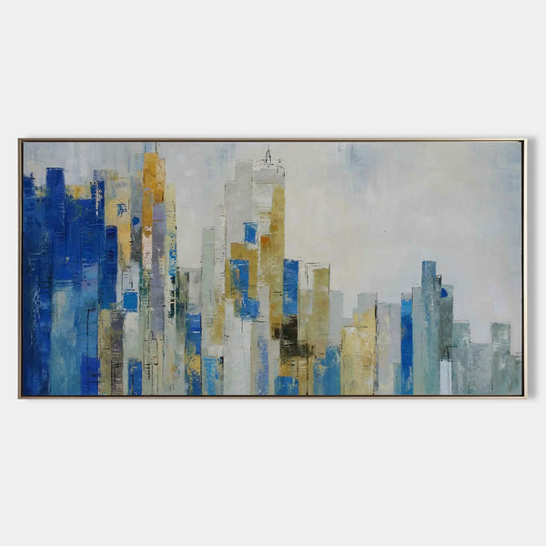 Skyline Art Cityscape Art Large abstract City Painting NYC Skyline Canvas