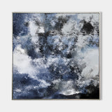 Large Square Blue Abstract Art Tectured Abstract Painting Original Abstract Art