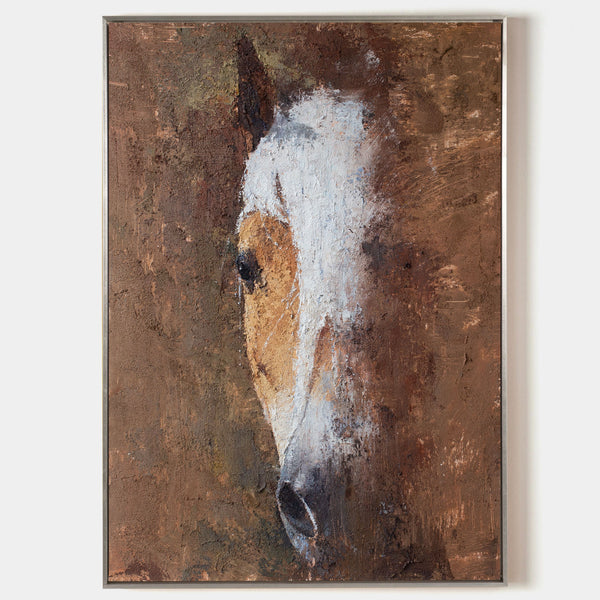 Abstract Horse portrait Painting Large Horse Artwork Modern Horse Canvas Wall Art