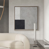Simple Minimalist Painting Abstract Large Minimal Wall Art Grey Geometric