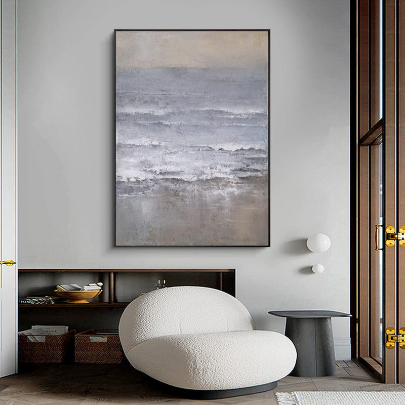 Beach Scene Painting Oversized Coastal Wall Art Modern Coastal Artwork Modern Art Beach