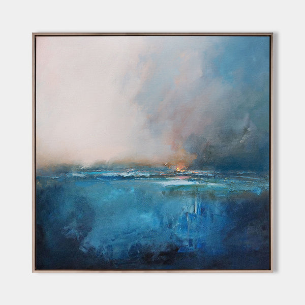 Large Beach Artwork Ocean Sunset Wall Art Abstract Seascape Paintings