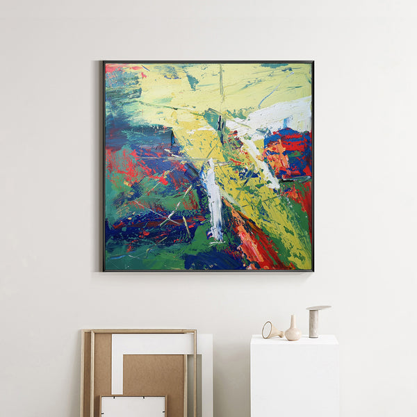 40 x 40 Abstract Landscape Art Square Contemporary Landscape Painting