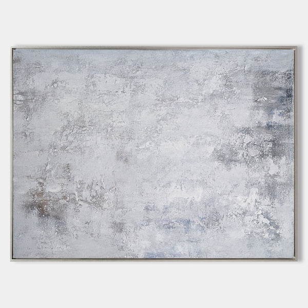 Modern White Minimalist Art Artwork For Large Walls Gray And White Wall Art