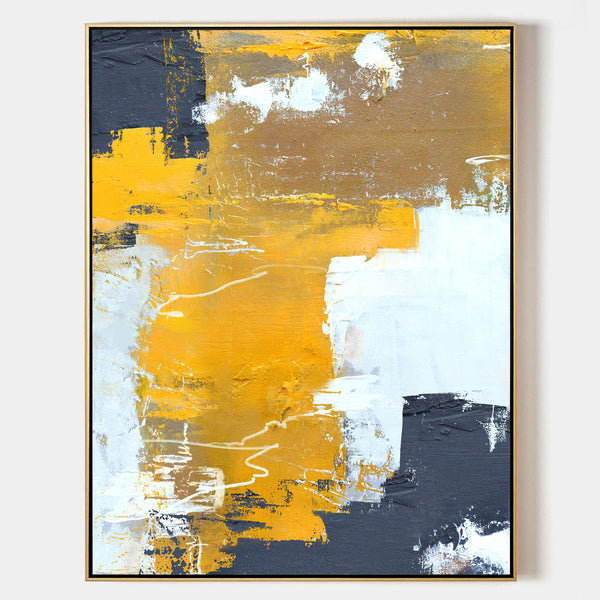 Orange Abstract Art Oversized Abstract Wall Art Large Painting Canvas