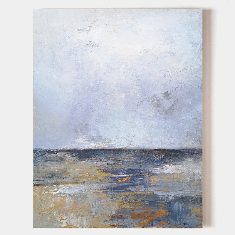 Beach Scene Canvas Art Acrylic Seascape Landscape Painting Beach