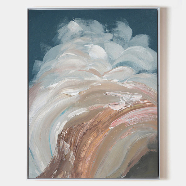 Abstract Sea Painting On Canvas Vertical Large Seascape Abstract Wall Art Huge Abstract Waves Art On Canvas