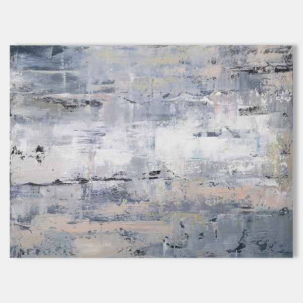 36 X 48 Nordic Wall Art Neutral Abstract Paintings Horizontal Artwork