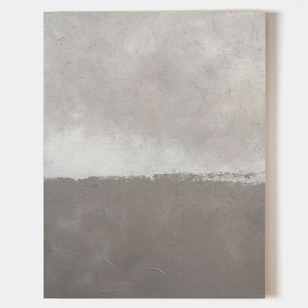 30 X 40 Vertical Modern Canvas Wall Art Beige Grey Minimalist Abstract Art
