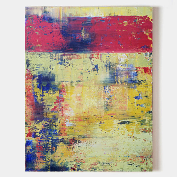 Vertical Artwork For Office Walls Contemporary Abstract Art For Sale