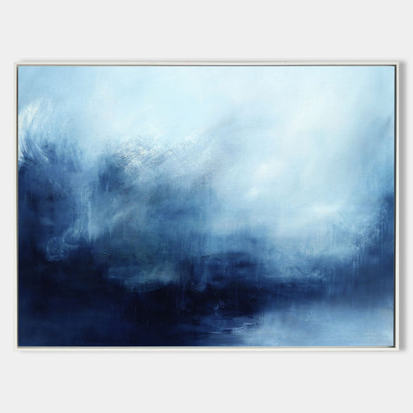 Extra Large Blue Ocean Wall Art Abstract Painting Ocean Abstract Seascape Canvas